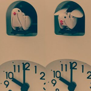 プロジェクトメンバーの朝を支える鳩時計